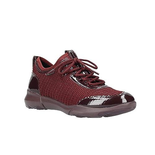 3c3972c1b360d3 Geox D Nebula X B, Sneaker Infilare Donna, Rosso (Dk Burgundy C7357),