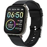 "Rinsmola Smart Watch 2021 Watches for Men Women, Fitness Tracker 1.69"" Touch Screen Smartwatch Fitness Watch Heart Rate Monit"