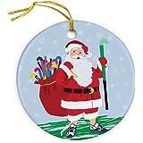 ChalkTalkSPORTS Fabo The Field Hockey Dog Christmas Ornament Field Hockey Porcelain Ornaments ChalkTalk SPORTS fh-00988
