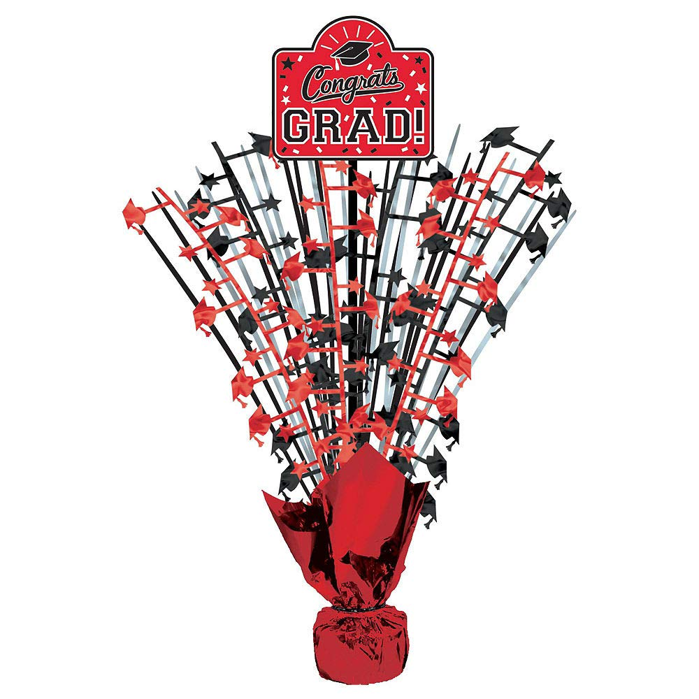 Party City Red Congrats Grad 2019 Graduation Party Supplies for 36 Guests with Banner, Tableware and Balloons by Party City (Image #9)