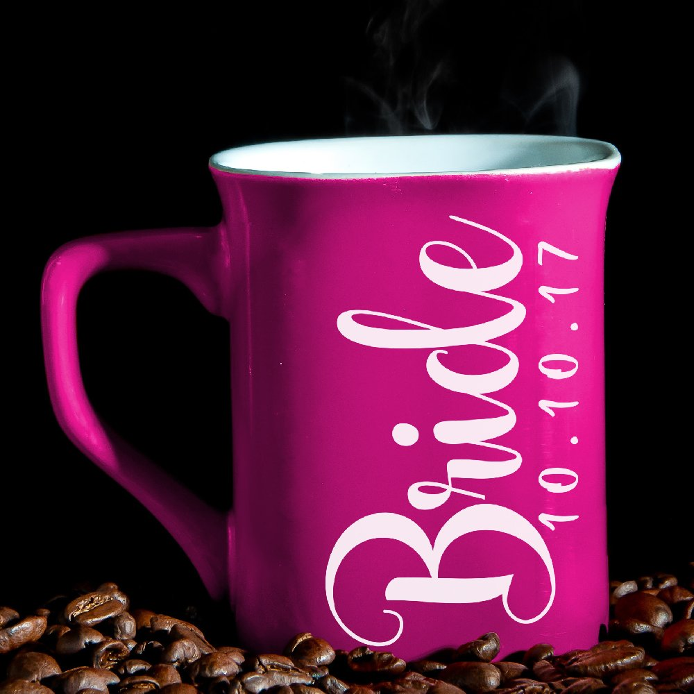 Amazon.com | P Lab Personalized Coffee Mug Bride & Groom Premium ...