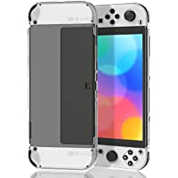 Clear Case Compatible with Nintendo Switch OLED Model,MENEEA Soft TPU Case Compatible with Joy con OLED and Hard PC…