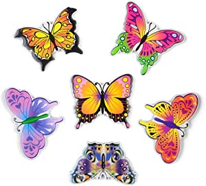M MORCART 6pcs Decorative Magnets for Fridge Door Butterfly Fridge Magnets Fun for Lockers Office Cabinet School Whiteboard Photo Beautiful Cool Magnets for Gift