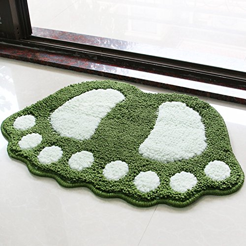 Water bath mat household mats toilet door mat -4060cm Dark green by ZYZX