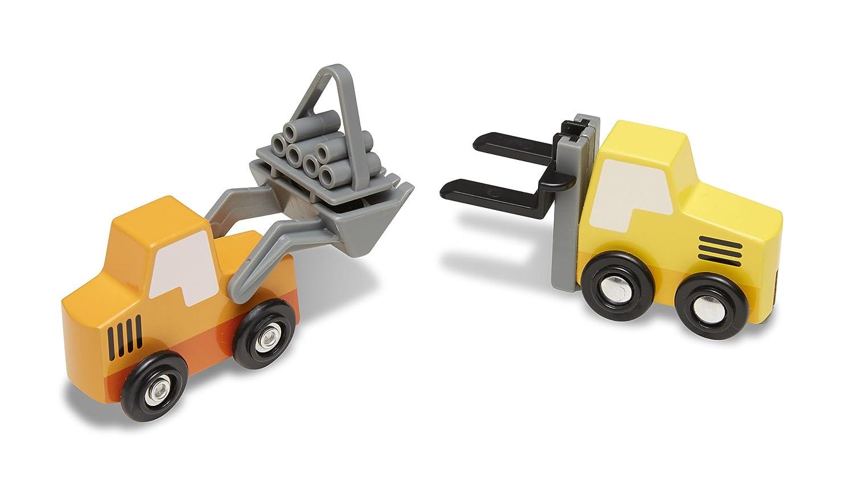 8 Teile 13180 Melissa /& Doug Baustellenfahrzeuge aus Holz