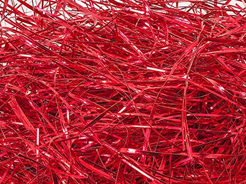 Pack of 1, Metallic Red Veryfine Cut 10 Lb Spring-Fill Shred Great for Baskets, Boxes, Containers or Bags by Generic