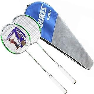 Dedeka Lot DE 2 Raquettes de Badminton, Raquette Portable légère, Attacker Set de Junior avec Badminton Sac