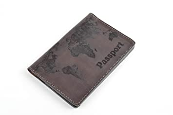 Funda para pasaporte artesanal portadocumentos de cuero gris ...