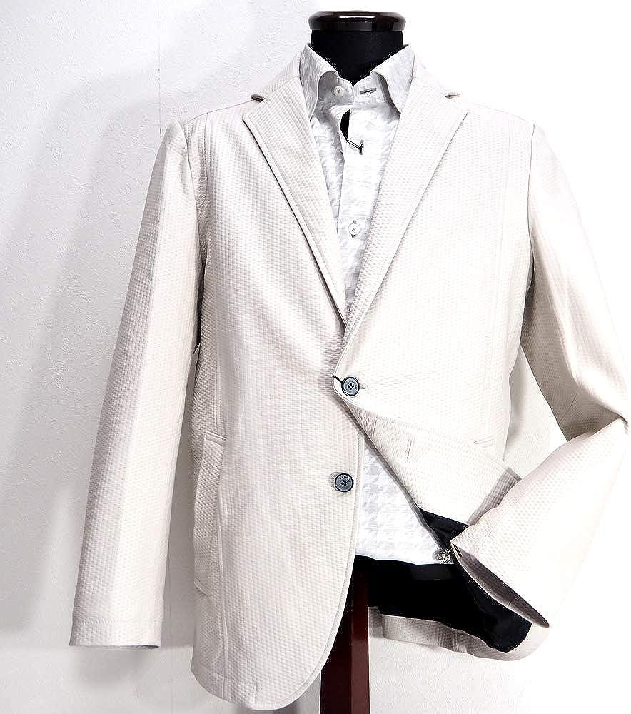 60282 barassi MILANO バラシ ミラノ 羊革 2つボタン カジュアルジャケット ホワイト 50(LL) サイズ メンズ カジュアル 男性 秋冬 ゴルフ 通販