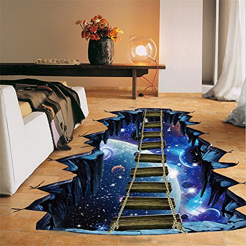 Euone Wall Sticker, 3D Star Series Floor Stickers Mural Decals Vinyl Art Decor (A)