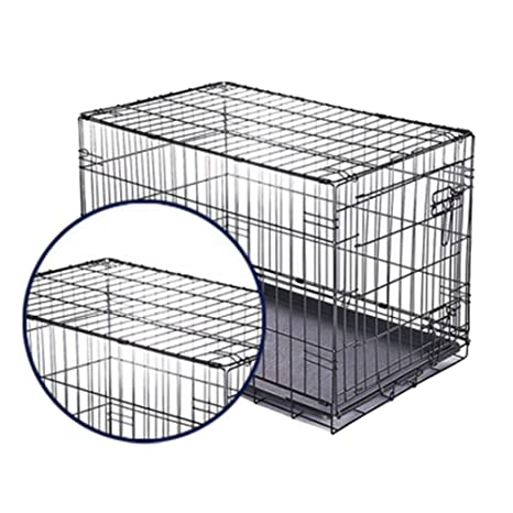 Jaula para Perro de Alambre de una Sola Puerta, Cerca de Animales portátiles para Mascotas