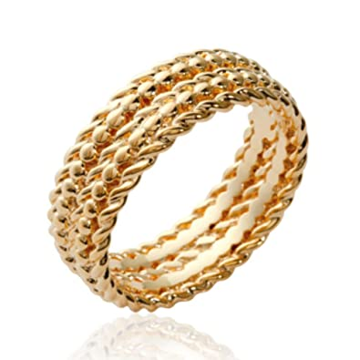 Isady Alexia Gold Womens Ring  Carat Gold Plated