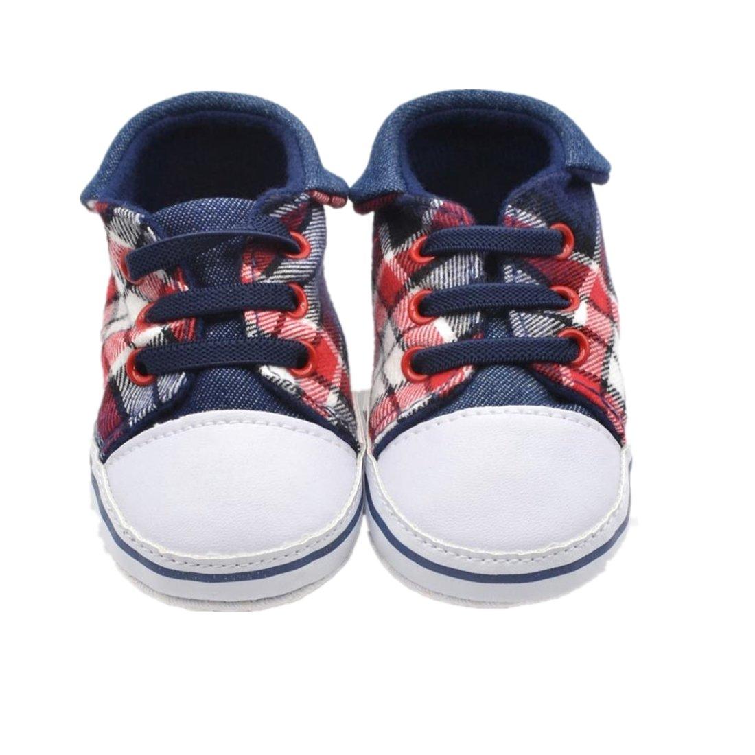 pour 0-18 mois Bébé, Amlaiworld Garçon doux Sneaker seul enfant chaussures (11/0-6 mois, Bleu)