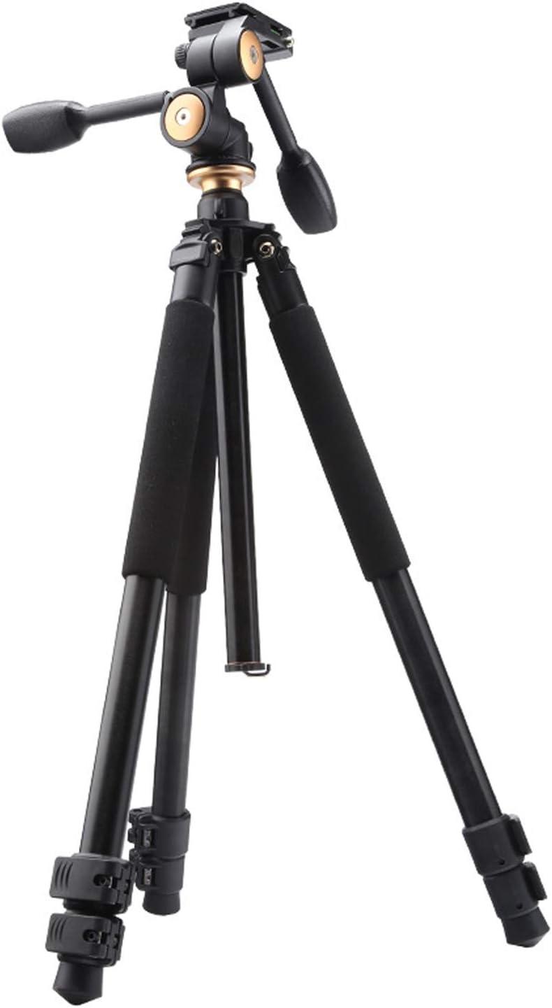Color : Aluminum LLluckyHW Action Camera Selfie Stick Travel Tripod Bag for DSLR Camera Professional Video Tripod DSLR Video Shooting Enhanced Twist-Lock Outdoor Compact Overhead Tripod