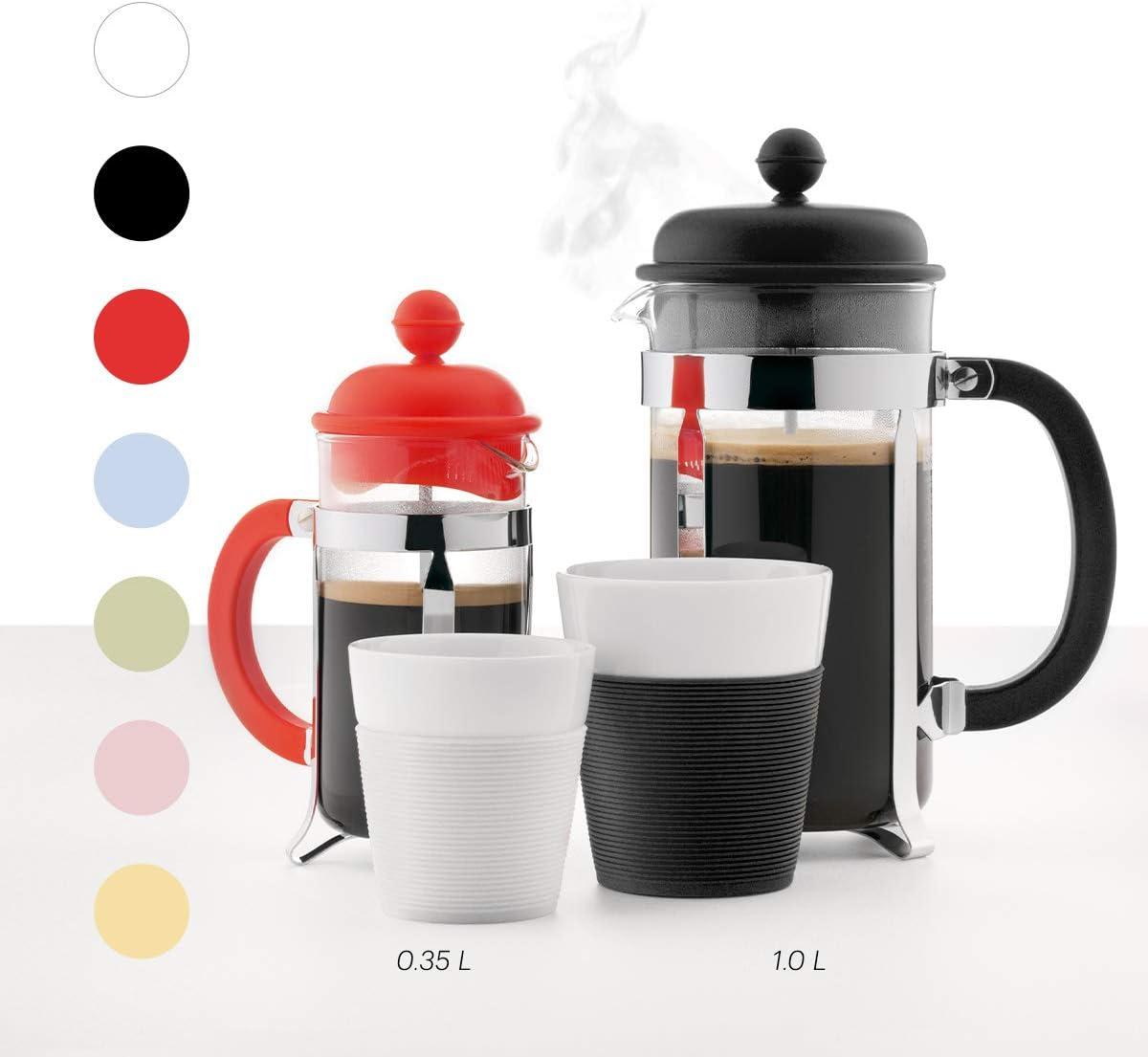 Bodum K11872-10TR Set de filtro de caf/é individual y taza t/érmica de pl/ástico de doble pared 0,35 literas