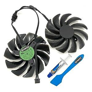 For GTX960 GTX970 GTX1050 GTX1060 DC12V 0.5A T129215SU 85MM 4pin temperature control graphics card cooling fan (2 Pcs/lot)