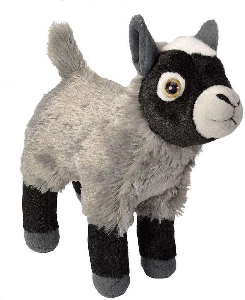 Wild Republic Goat Plush, Stuffed Animal, Plush Toy, Gifts for Kids, Cuddlekins 8 Inches