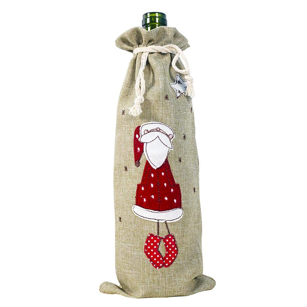 Cubierta de suéter de botella de vino de Navidad, cubierta de ...