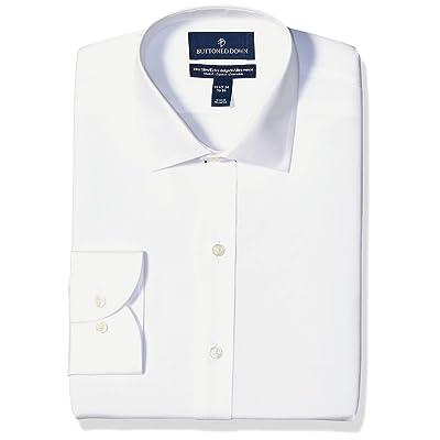 Brand - Buttoned Down Men's Xtra-Slim Fit Stretch Poplin Dress Shirt, Supima Cotton Non-Iron, Spread-Collar: Clothing