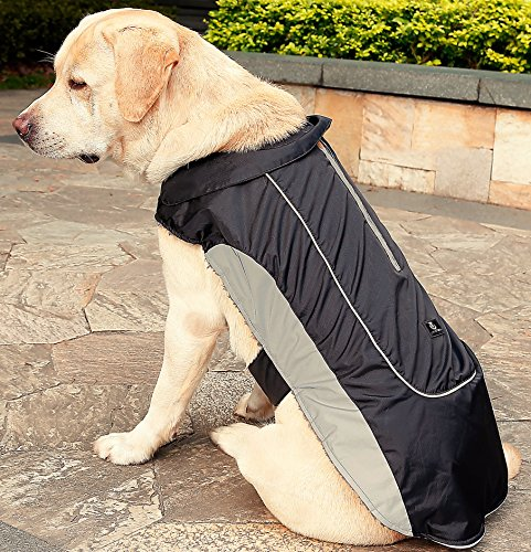 Sweatshirt Beagle Adult - UsefulThingy Dog Rain Coats for Small Medium or Large Dogs - Rain Jacket with Reflective Stripes for Safety - Warm Waterproof Raincoat with Harness Hole, 7 Sizes 3 Colors