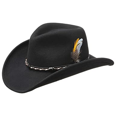 a411c3265c27bd Stetson Amasa VitaFelt Western Hat Women/Men | Made in USA Felt Cowboy with  Leather
