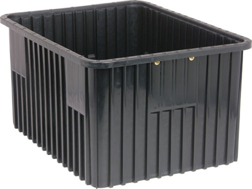 Quantum Storage Systems DG93120CO Dividable Grid Container 22-1/2-Inch Long by 17-1/2-Inch Wide by 12-Inch High, Black Conductive, 3-Pack
