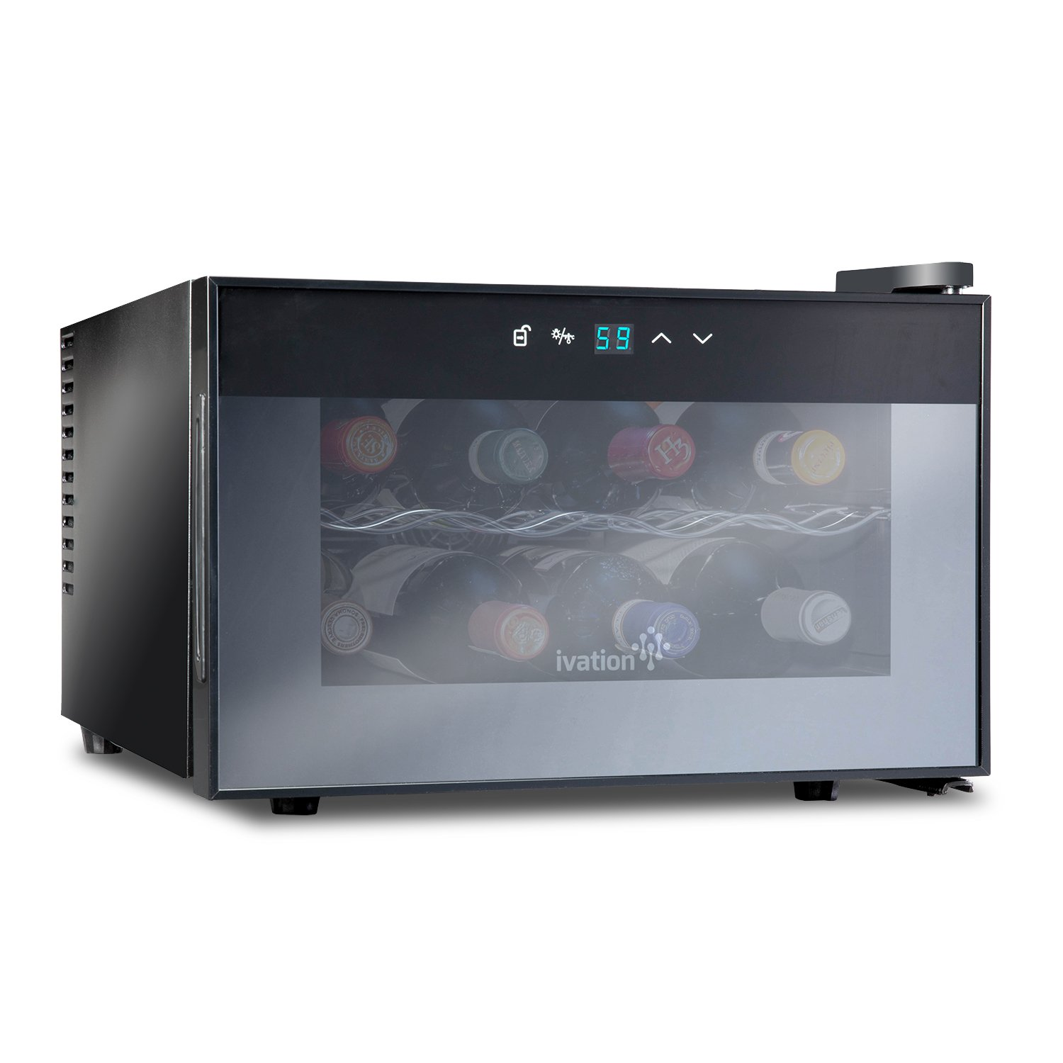 Amazoncom Ivation 8 Bottle Countertop Thermoelectric Wine Coolerchiller Red &
