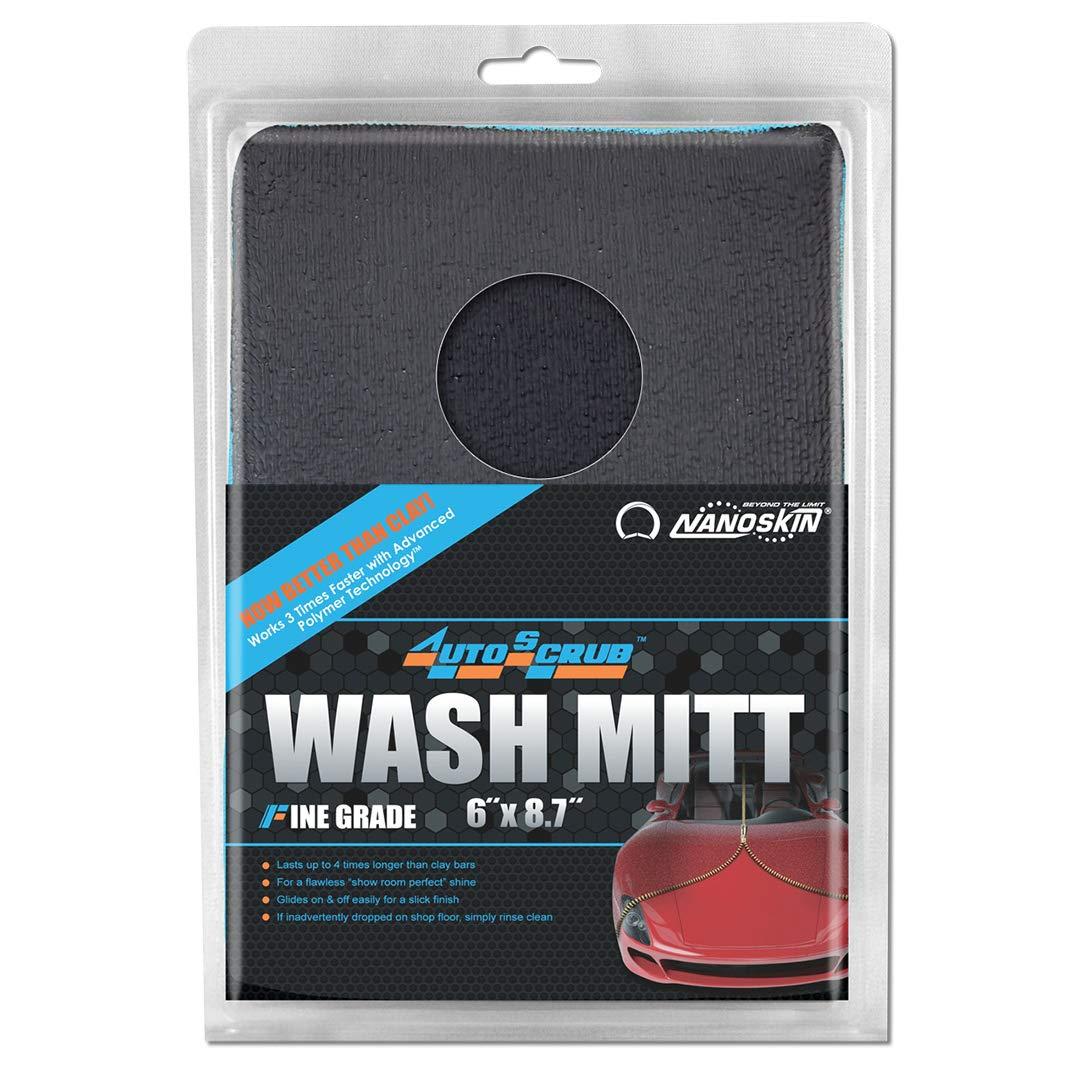 "Nanoskin AUTOSCRUB Fine Grade Wash Mitt [AS-016] Blue, 6"" x 8.7"""