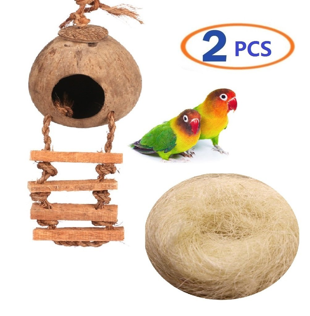 Bird Nests X 3 Breeding Nest Bird Box Grass Weave Canary Finch Budgie 9 X 4 Inch Durable Service Other Bird Supplies