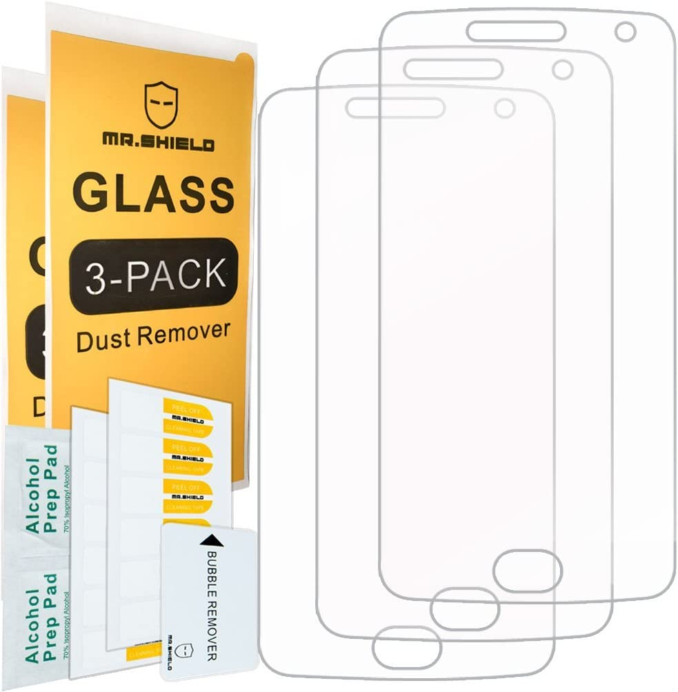 [3-PACK]-Mr.Shield For Motorola Moto G5 Plus/Moto G Plus (5th Generation) [Tempered Glass] Screen Protector [Japan Glass With 9H Hardness] with Lifetime Replacement