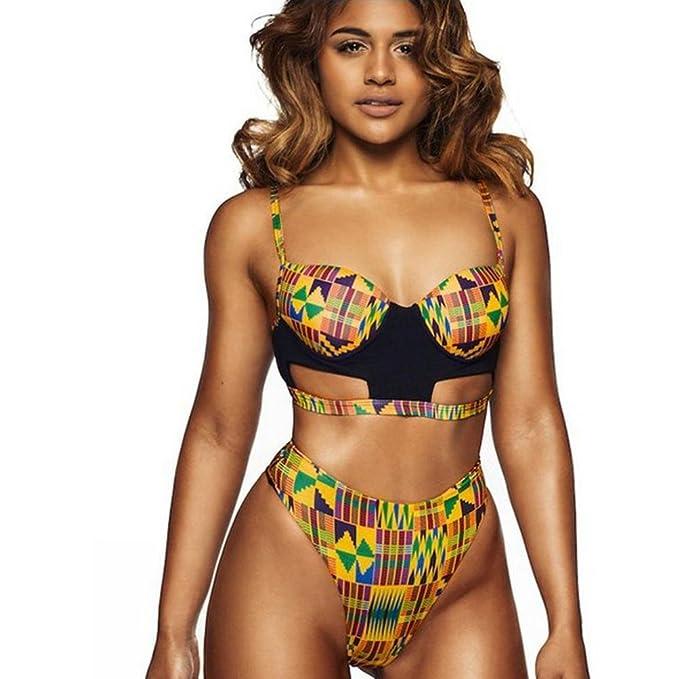 ALISIAM Mujeres Bikini, Hacer subir sujetador traje de baño (S)