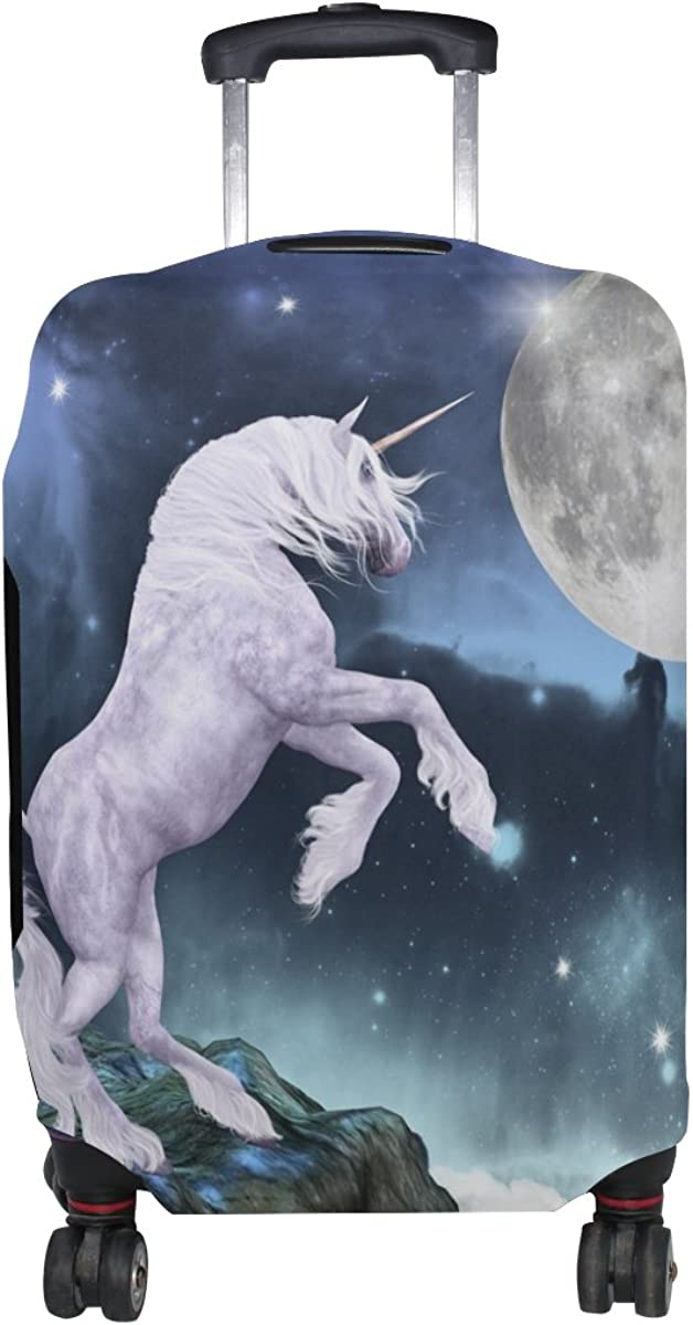 LAVOVO Unicorn Moonight Luggage Cover Suitcase Protector Carry On Covers