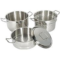 Set 4 pièces cuit pâtes vapeur en inox Artmétal - Artmétal