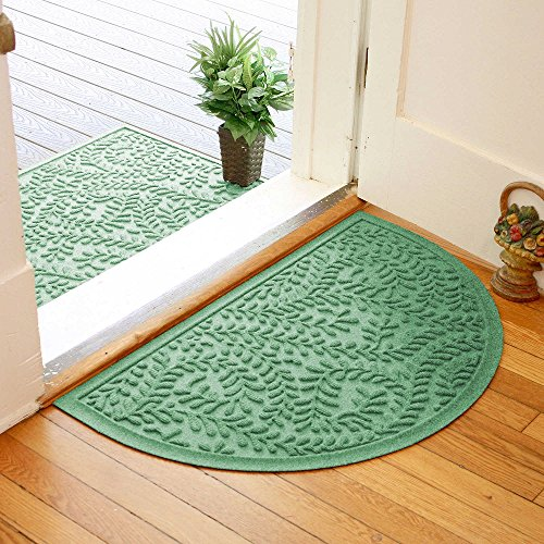 - Weather Guard Boxwood 24-Inch x 39-Inch Half Oval Door Mat in Light Green