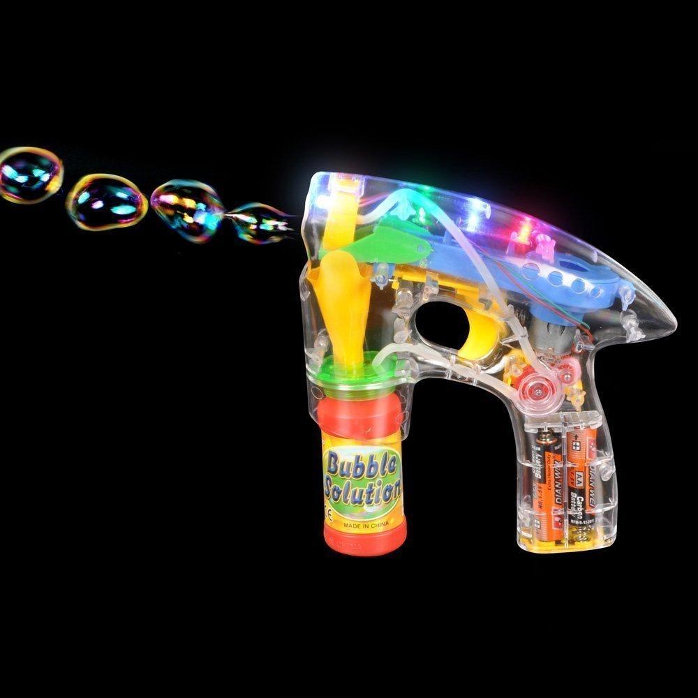 Light-Up Led Bubble Gun Blaster W/ Bubbles And Batteries 2