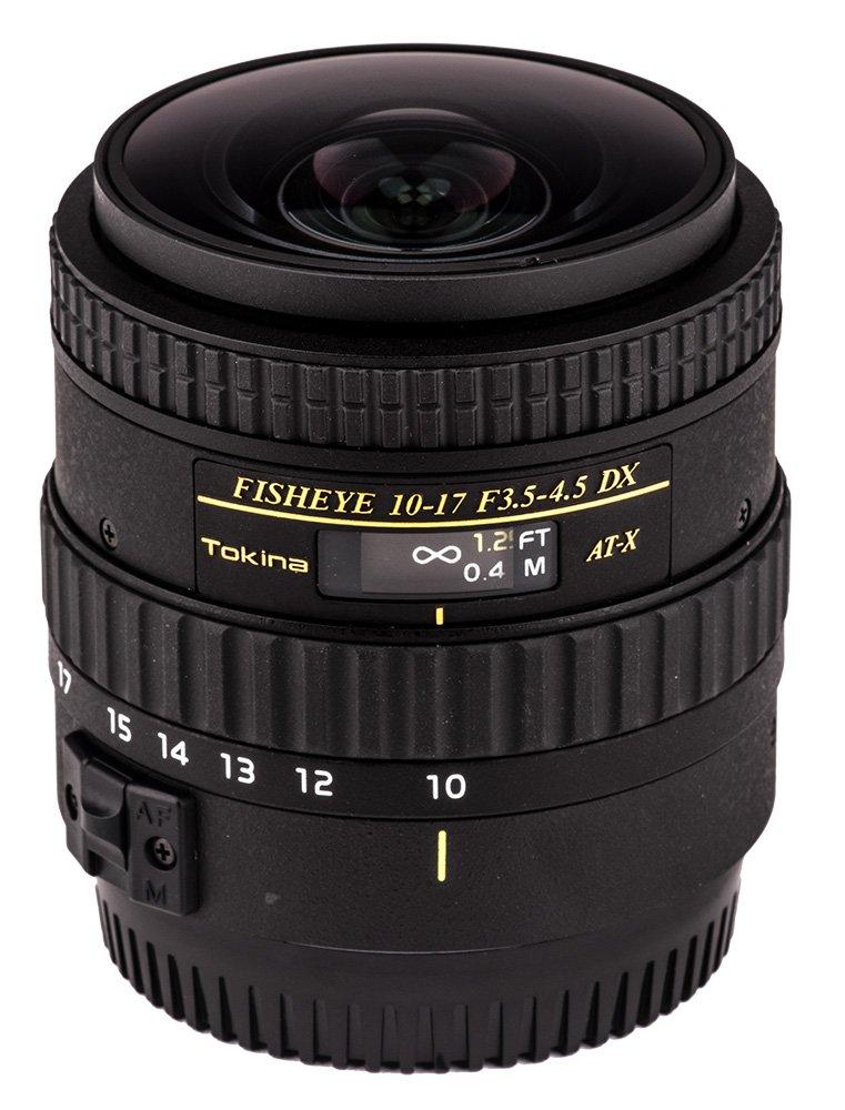 Tokina ATXAF107DXNHC 10-17mm f/3.5-4.5 AF NH Fisheye Lens for Canon, Black by Tokina