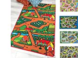 Handcraft Rugs-Country Life Kids Rugs Non-Slip Brown and Multi/Kids Carpet Play mat Rug City Life Great for Playing with Cars and Toys - Play Learn and Have Fun Safely-Kids Baby-5 Ft. by 7 Ft.