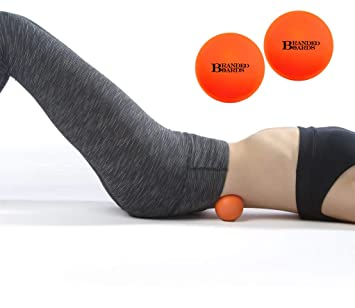 Branded Boards, Lacrosse Massage Balls deep Tissue Set - Massage Lacrosse Ball for myofascial Release, Sciatic, Plantar Fasciitis Therapy, Trigger ...