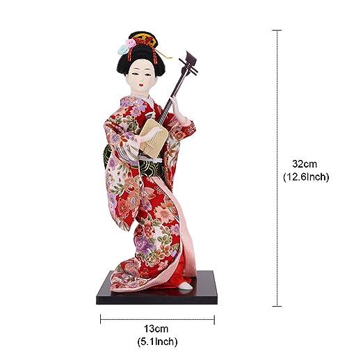 Amazon.com: JG.BETTY - Muñeca japonesa Geisha de 11.8 in ...