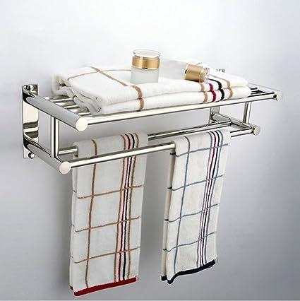 SBWYLT-Moderno toallero de baño acero inoxidable taladro ...