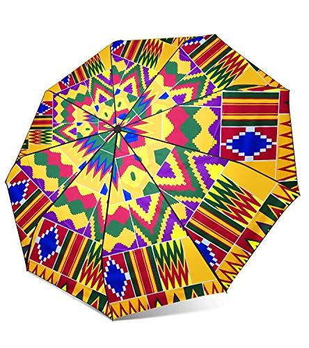 - HongyuAmy African Print Umbrellas Ankara Waxprint Folding Umbrella (One Size, Color A)