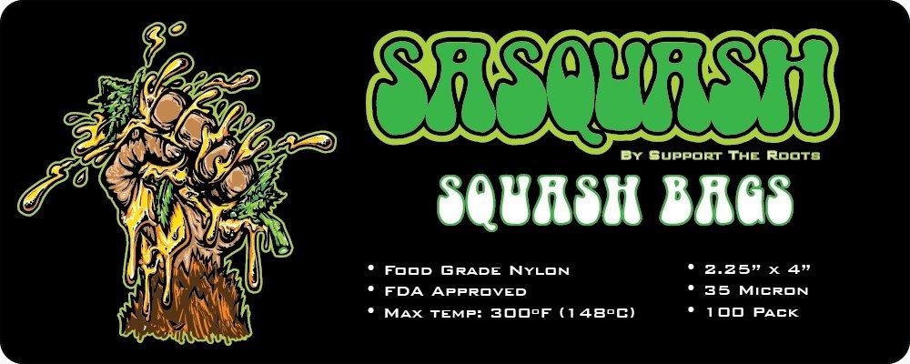 Sasquash - Squash Bags -2.25'' X 4'' (100 Pack) Rosin Tea Bag Press Filter - 35 Micron - Award Winning Brand