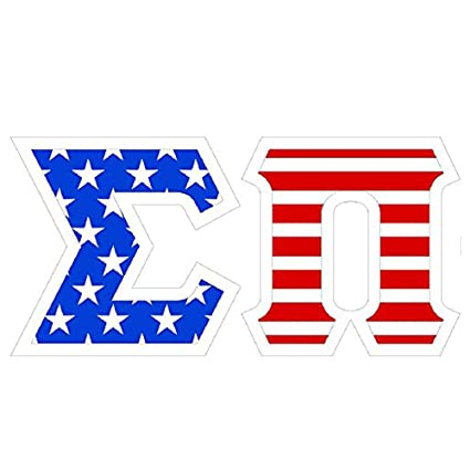 Amazon Sigma Pi American Flag Greek Letter Sticker