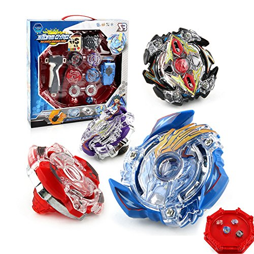 Evolution Spools (LK Best Burst Evolution Star Storm Bey battle blade Set and Arena Included with 4D Launcher Grip Set)