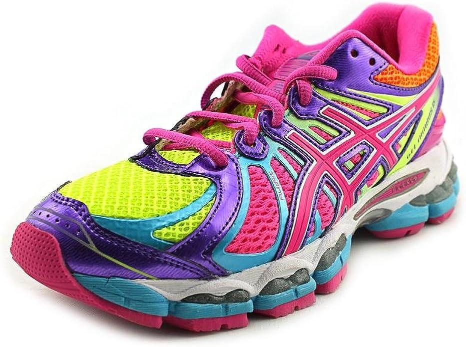 Asics Zapatilla de Running para Mujer Gel-Nimbus 15, Amarillo/Morado/Morado: Amazon.es: Zapatos y complementos
