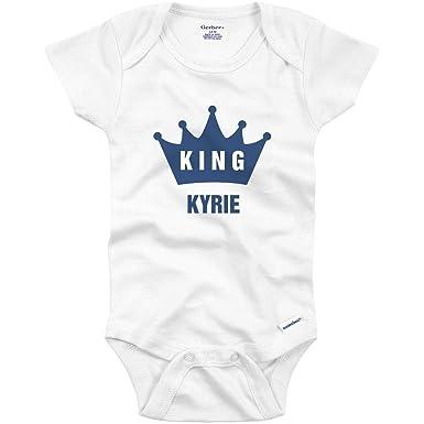 ae12b1440 Amazon.com: Funny King Baby Kyrie Crown Onesie: Infant Gerber Onesie:  Clothing