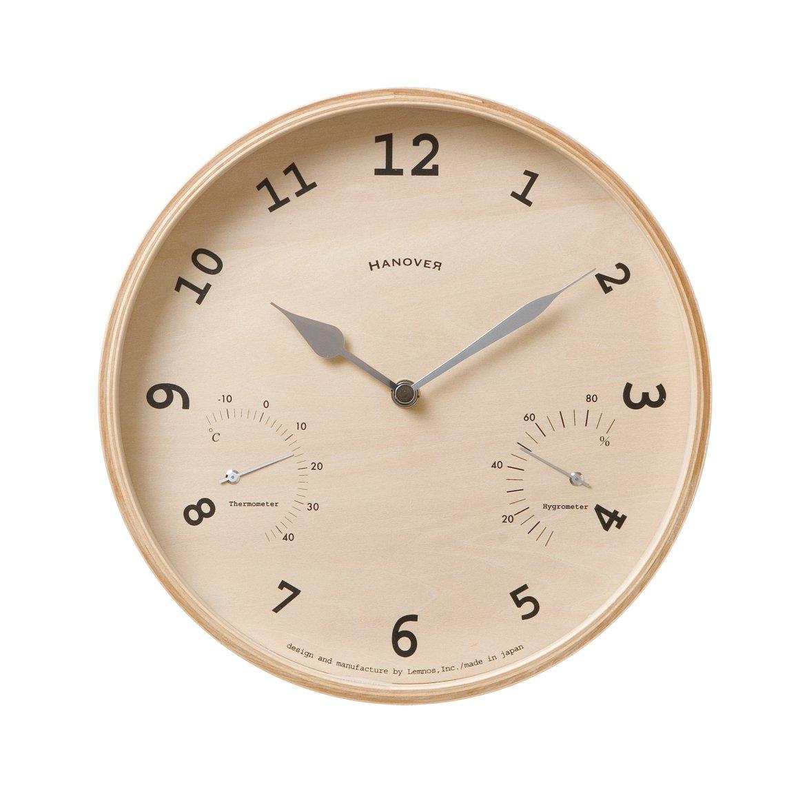 Lemnos BAUM 温湿度計付時計 PC08-09 B001NDZUTO