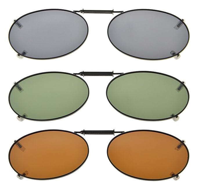 Eyekepper Gris/Marrón/G15 lente 3-Pack clip-en gafas de sol