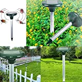 dSNAPoutof Whistle Repellent 2Pcs Solar Ultrasonic Outdoor Field Yard Rat Snake Tool