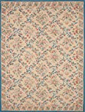 Ecarpetgallery Hand-woven French Tapestry Flowers 11' x 14' Ivory 100% Wool area rug
